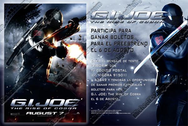 GI Joe Hispanic Poster - Snake Eyes