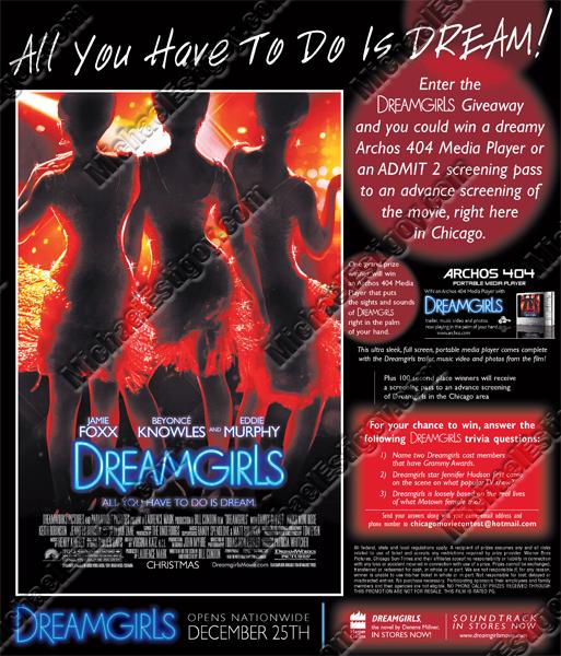 Dreamgirls Chi Sun-Times Ad