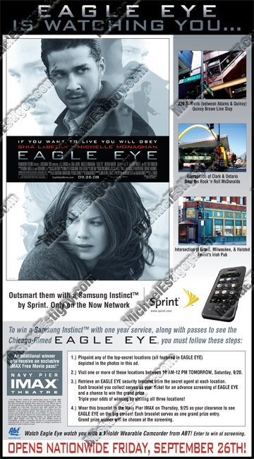 Eagle Eye Chicago Sun-Times Full Page Ad