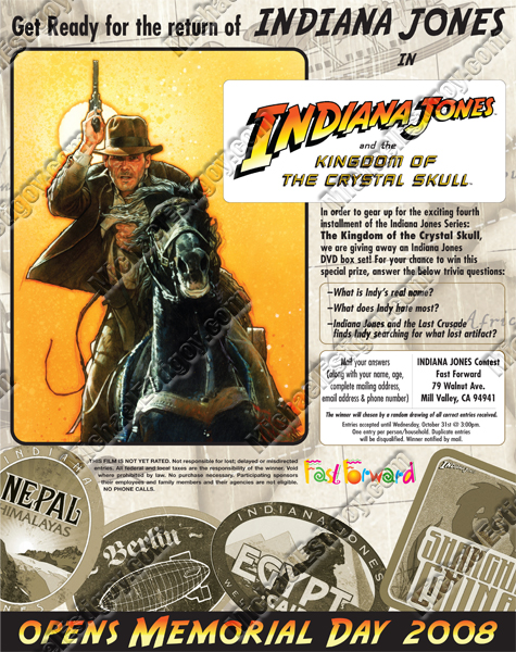 Indiana Jones 4 Fast Forward ad