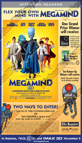 Megamind Philly Inq Ad